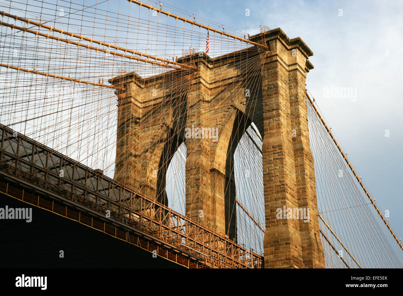 New York Brooklyn Bridge - Stock Image