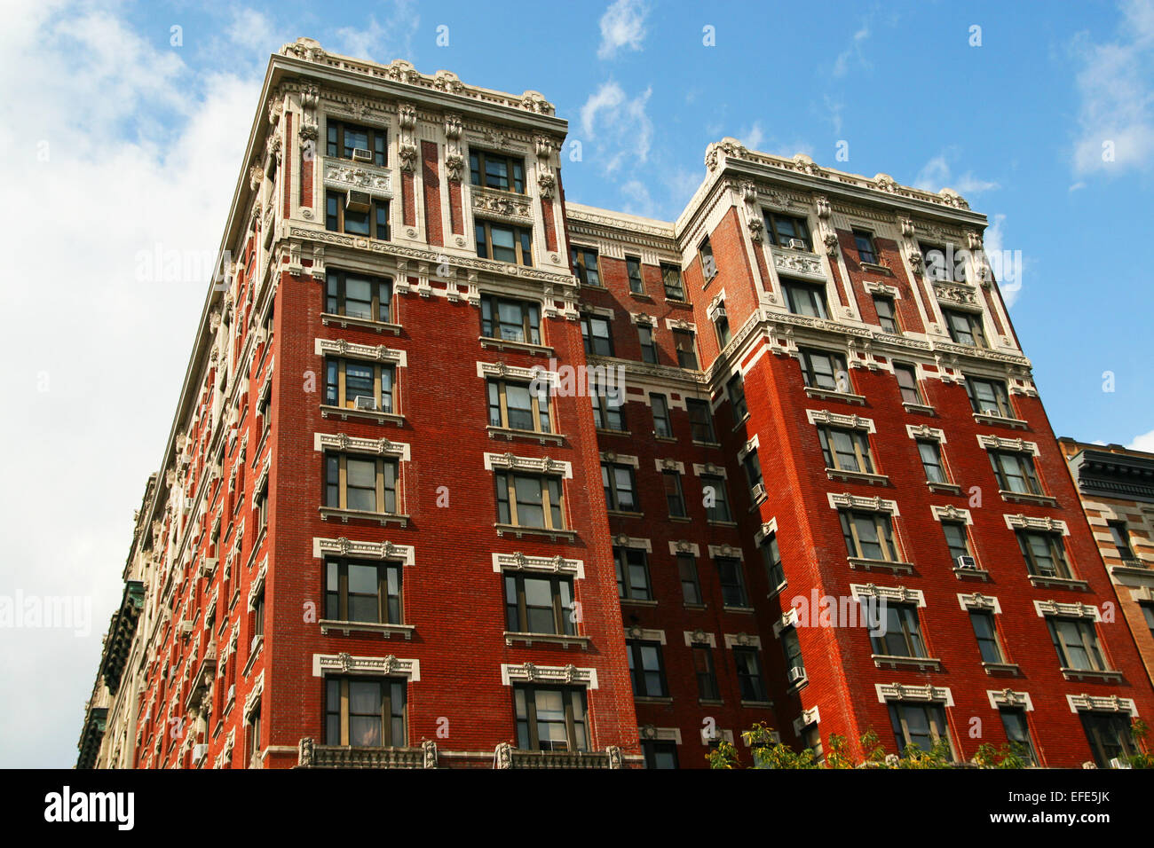Rotes Haus in New York - Stock Image