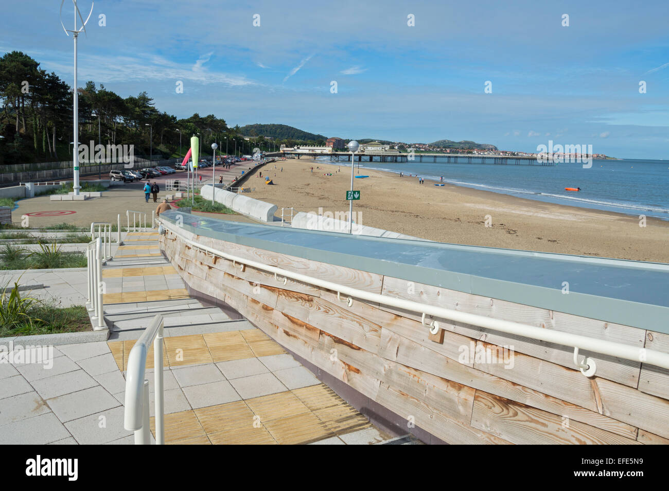 Rhos on sea, Colwyn Bay, seafront, beach, North Wales, uk - Stock Image