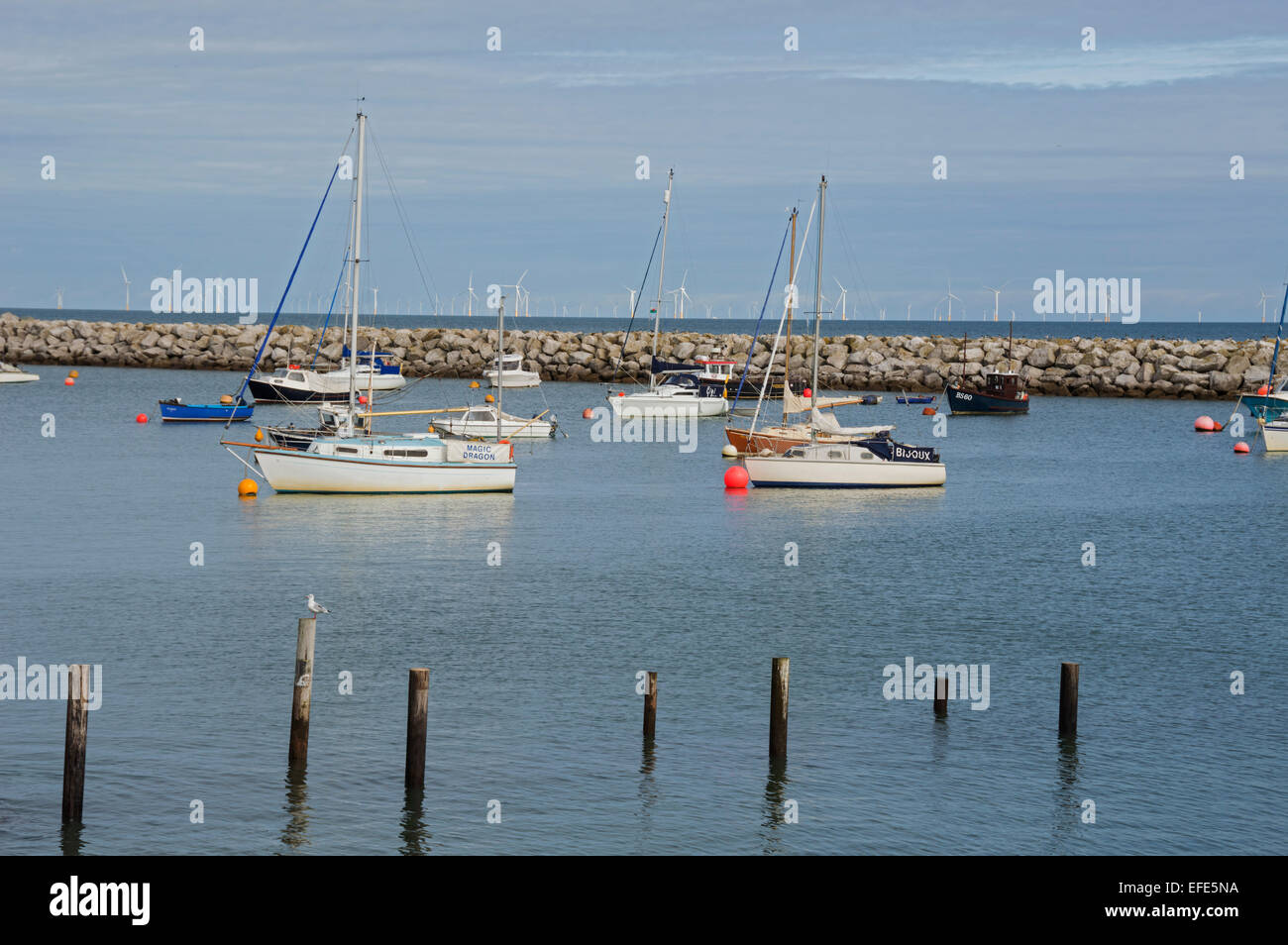 Rhos on sea, Colwyn Bay, seafront,   North Wales, uk - Stock Image