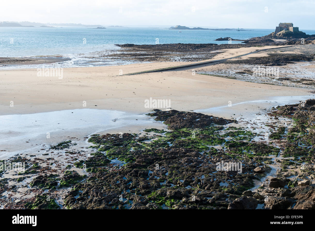 Fort National, Saint Malo, Brittany, France - Stock Image