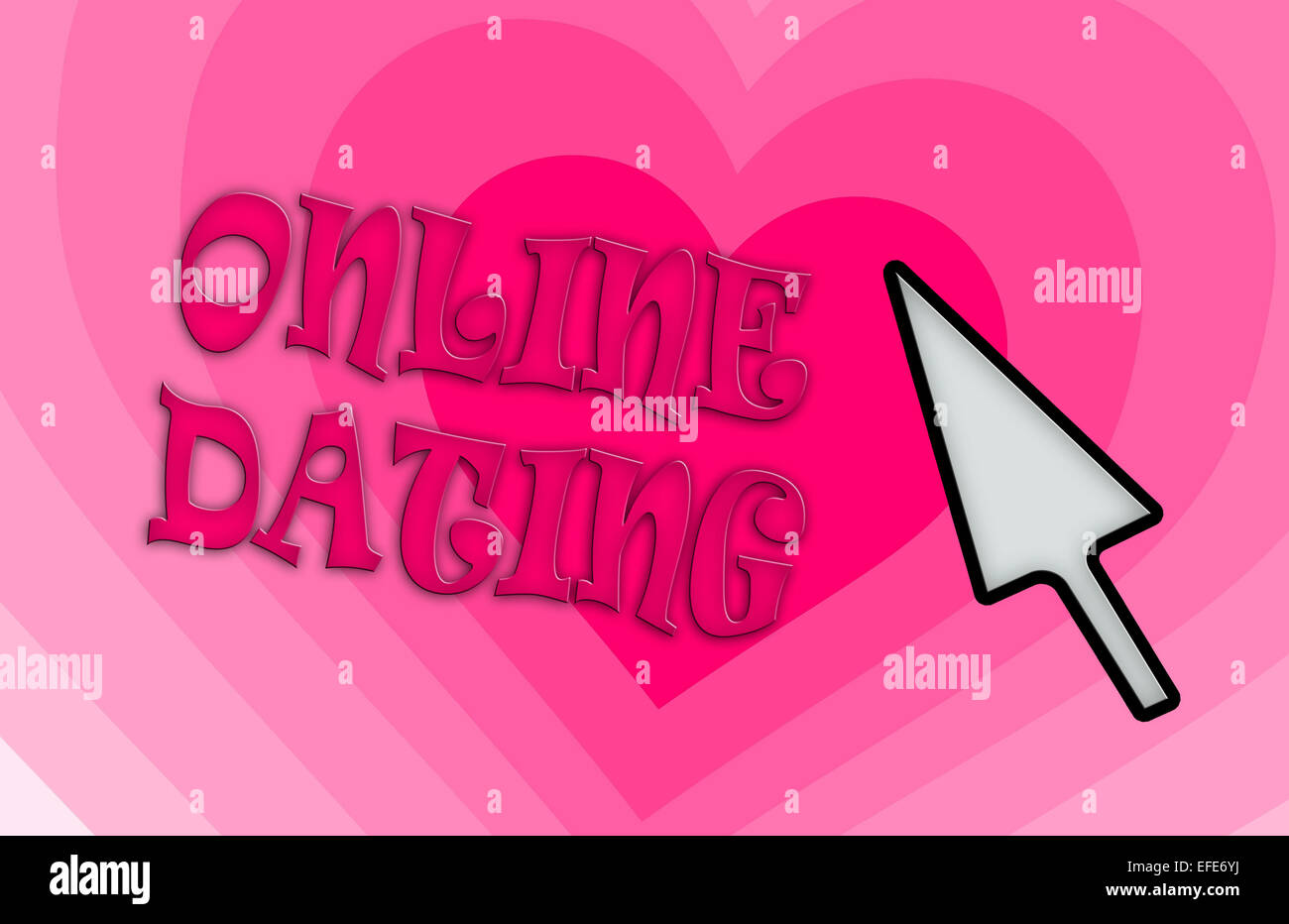 Heart shape backgound - Concept of dating - pink - Stock Image