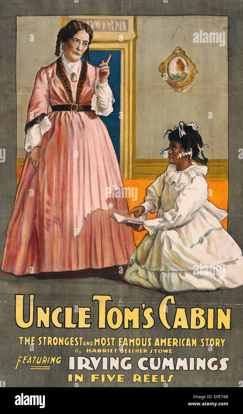 Uncle Tom's Cabin featuring Irving Cummings - Motion picture poster for 'Uncle Tom's cabin' shows - Stock Image