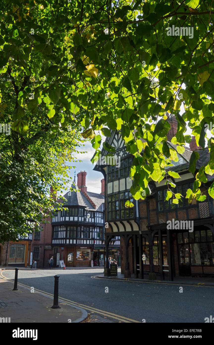 Chester city centre,   Cheshire, UK - Stock Image