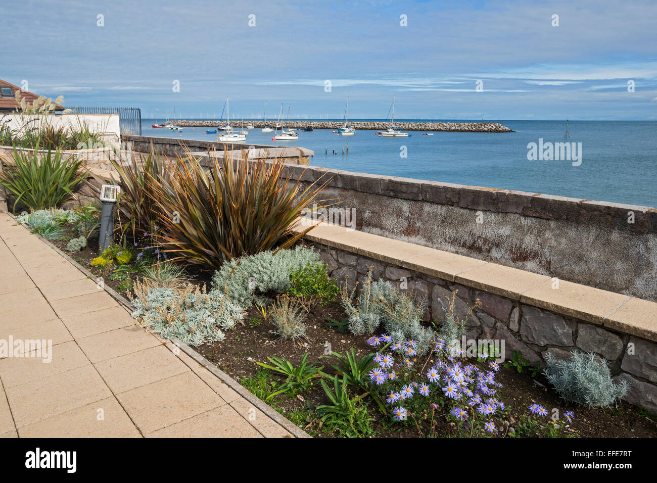 Rhos; on; sea; Colwyn; Bay; seafront; beach; UK; North; Wales - Stock Image