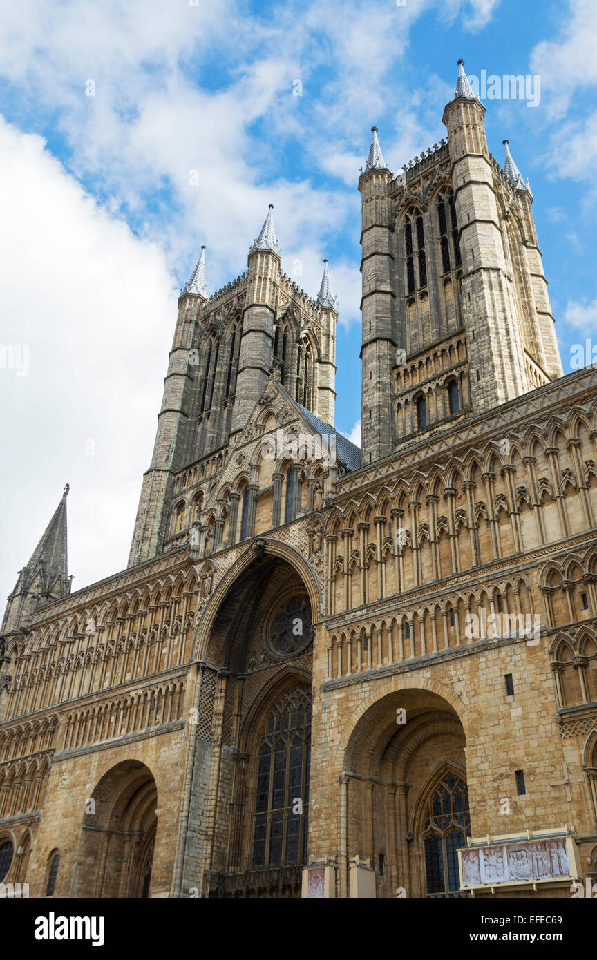 Lincoln; cathedral, city, Centre; Lincolnshire, UK - Stock Image