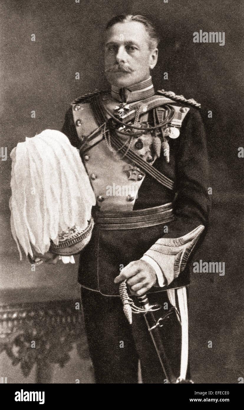 Field Marshal Douglas Haig, 1st Earl Haig, 1861 –1928. British senior officer during World War I. Stock Photo
