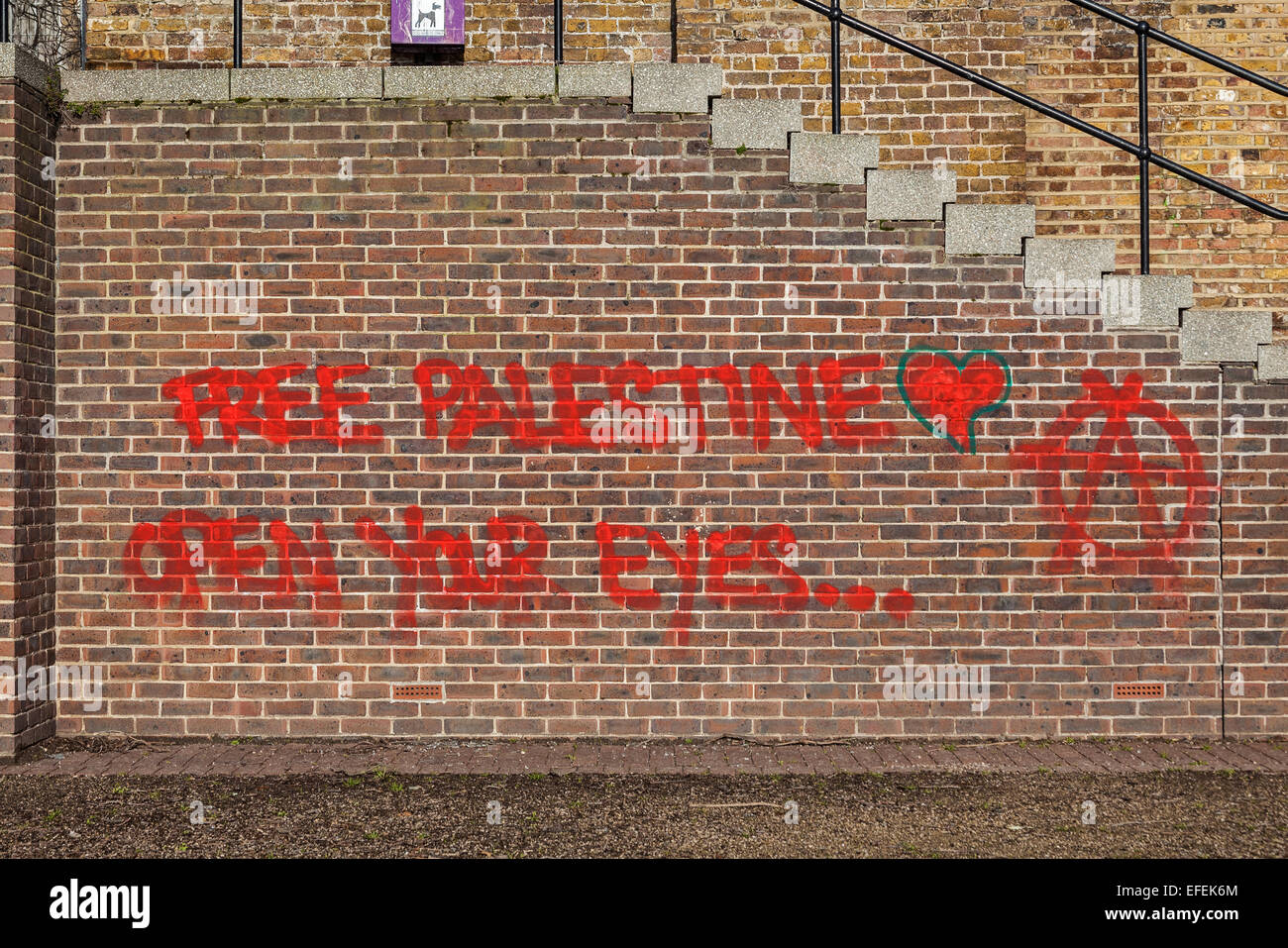 London, Shadwell   An anarchist message on a wall at Shadwell Basin - Stock Image