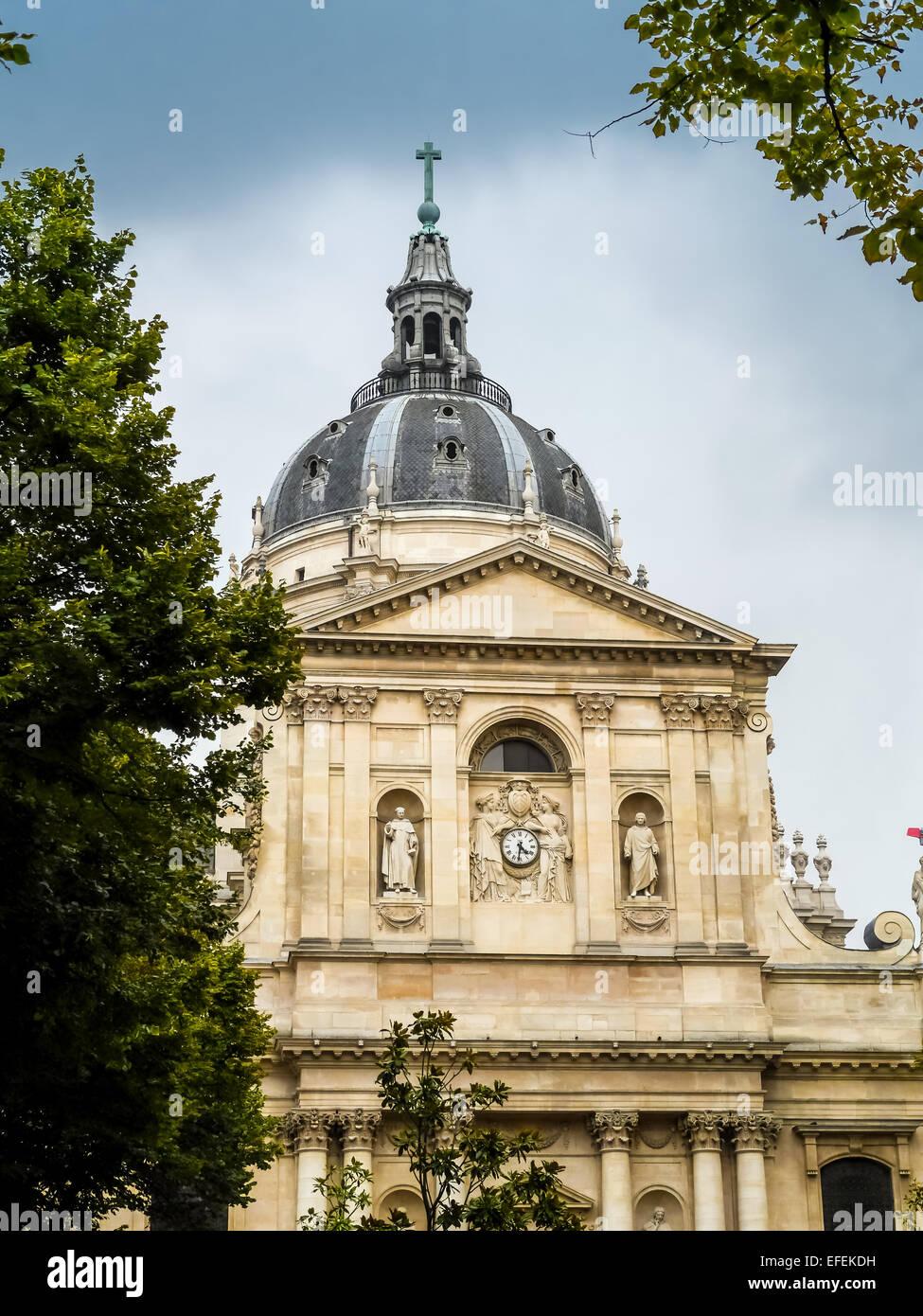 Famous Sorbonne University in Paris, France - Stock Image
