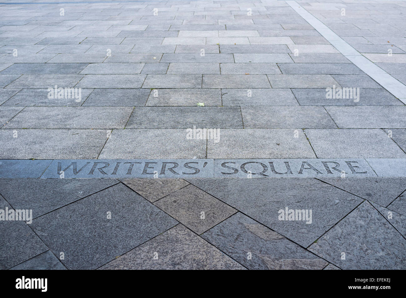 Writers Square, Cathedral Quarter, Belfast, Northern Ireland - Stock Image
