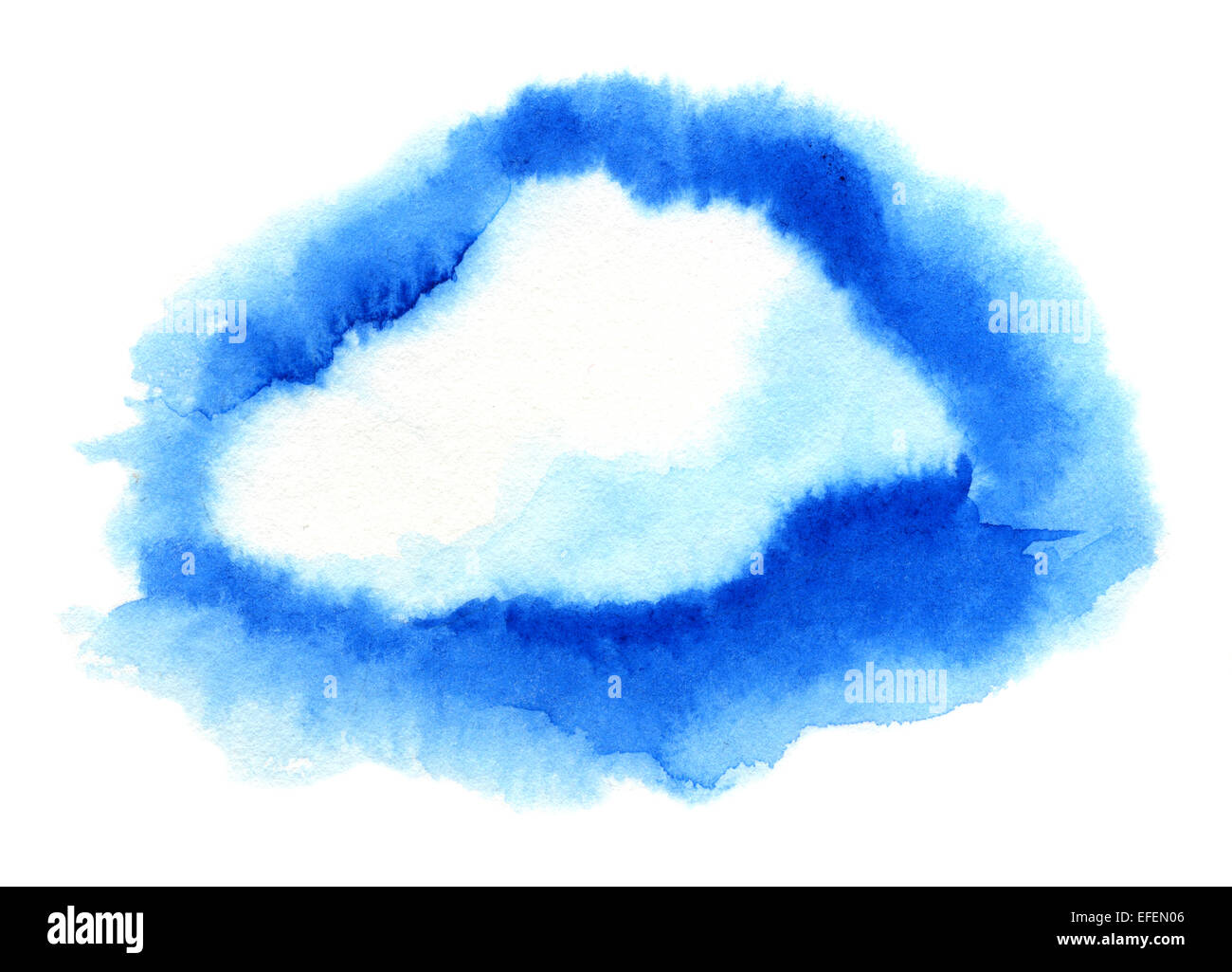 Cloud. Watercolor illustration - Stock Image