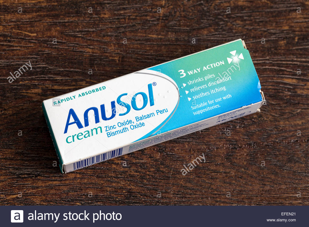 Cream for hemorrhoids or piles - Anusol Stock Photo