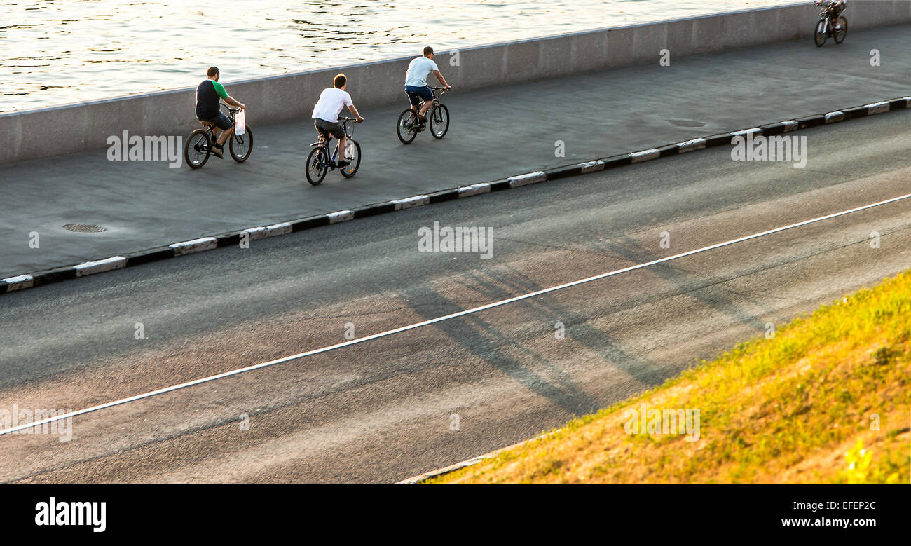 street bicyclists - Stock Image