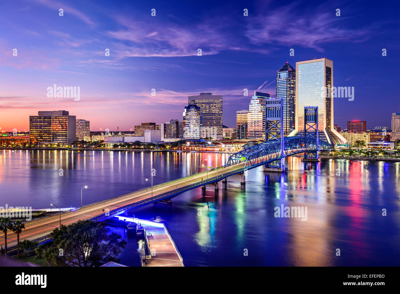 Jacksonville florida usa downtown city skyline stock for Best places to live in jacksonville fl