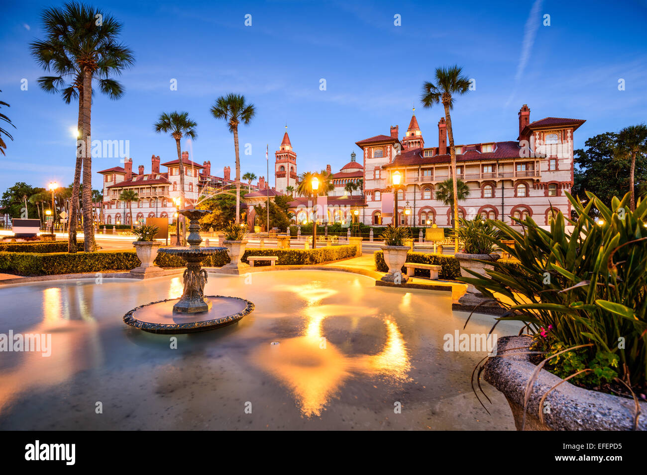 St. Augustine, Florida, USA townscape at Alcazar Courtyard. - Stock Image