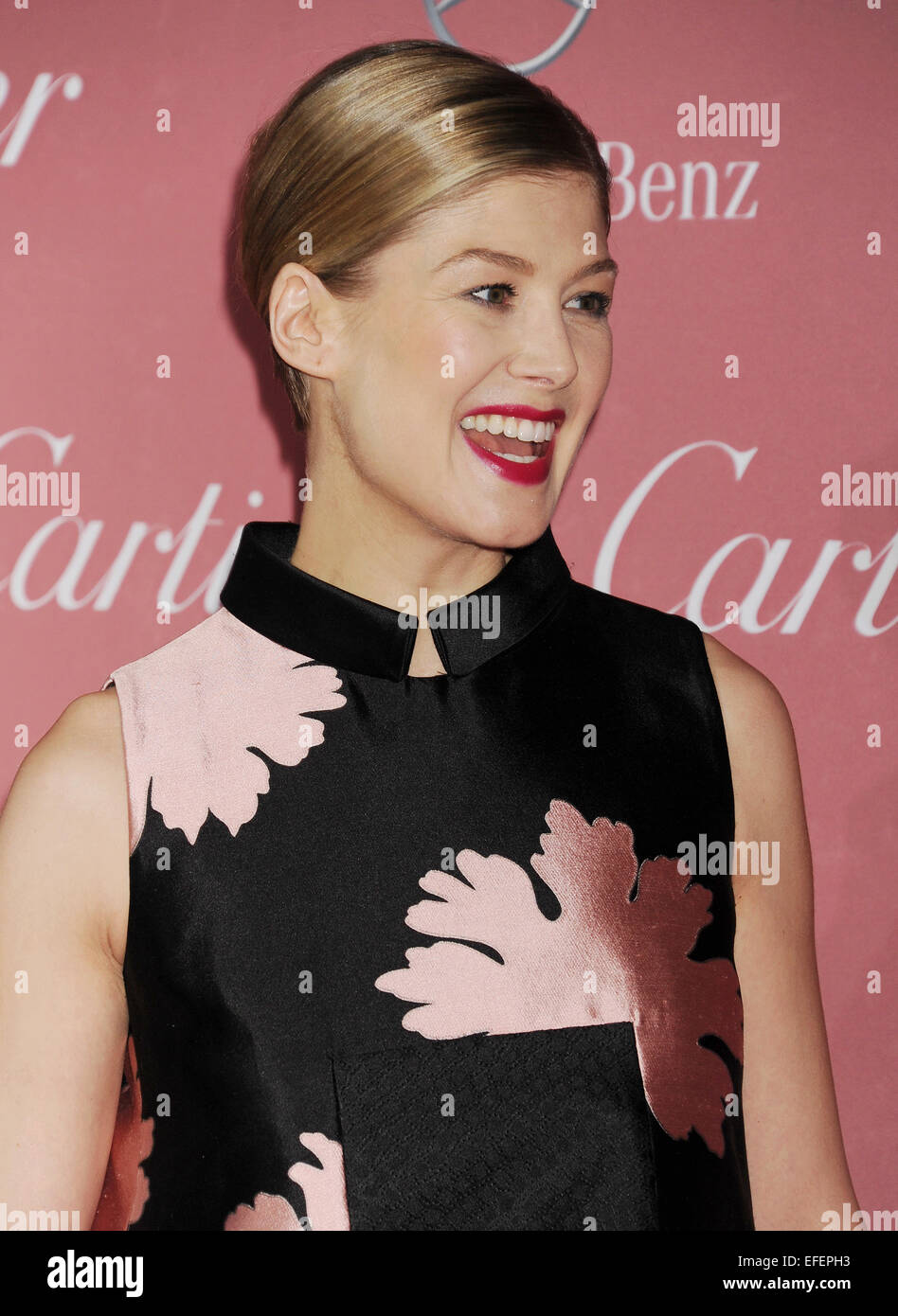 ROSAMUND PIKE  UK film actress in January 2015.Photo Jeffrey Mayer - Stock Image