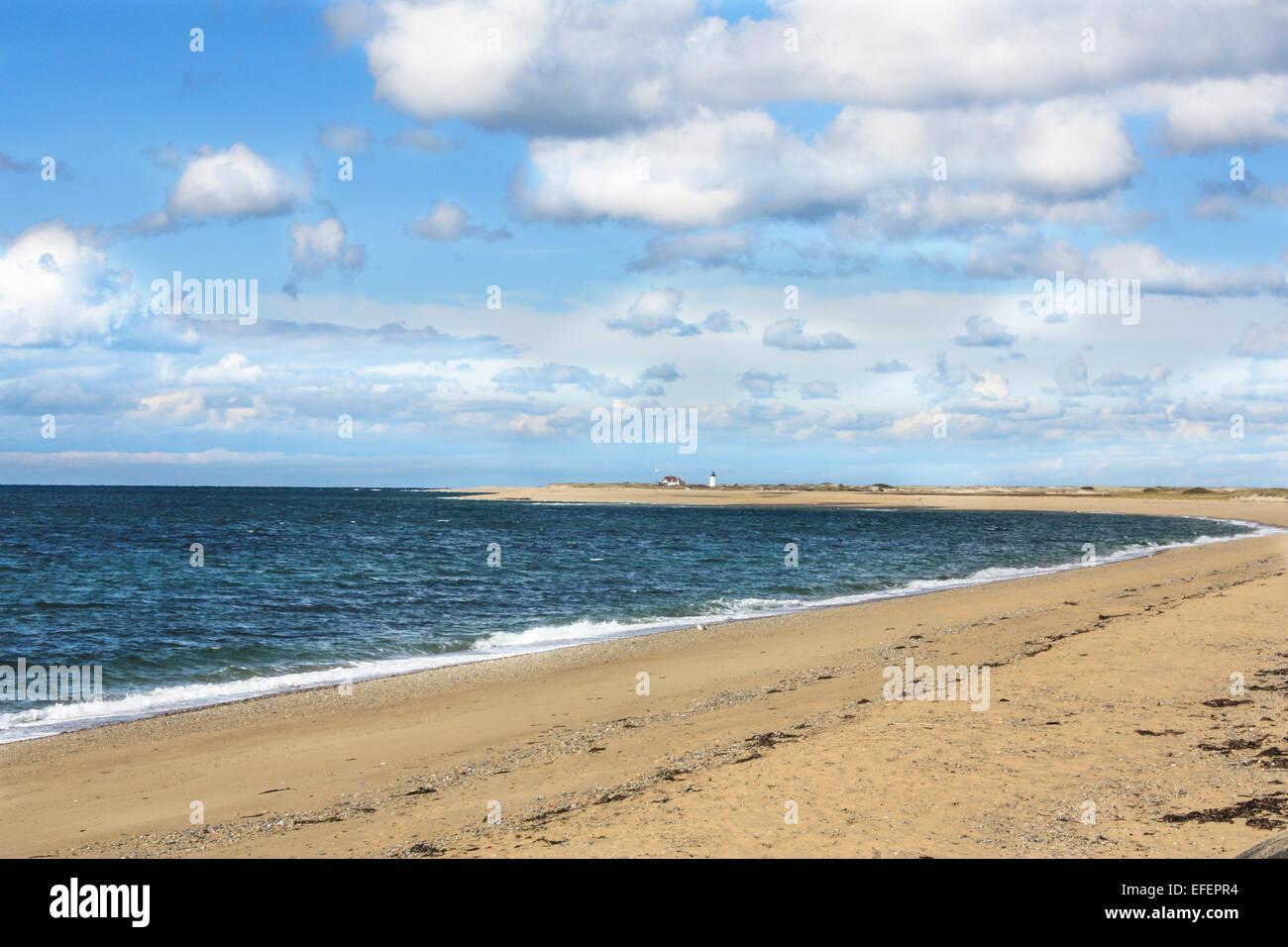 Beautiful beach on Cape Cod, Provincetown, MA - Stock Image