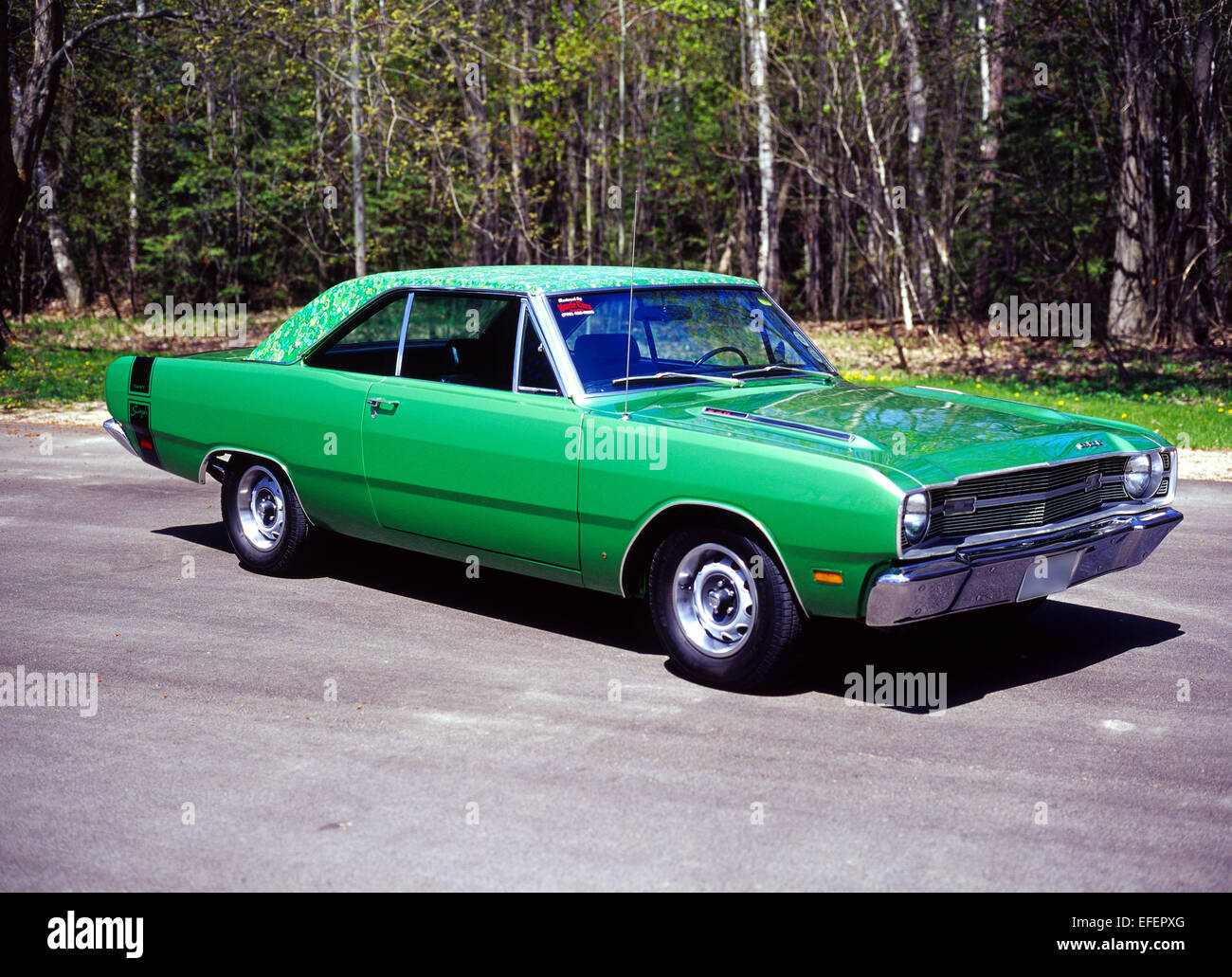 1969 Dodge Dart Swinger With Mod Top Option Stock Photo 78386632
