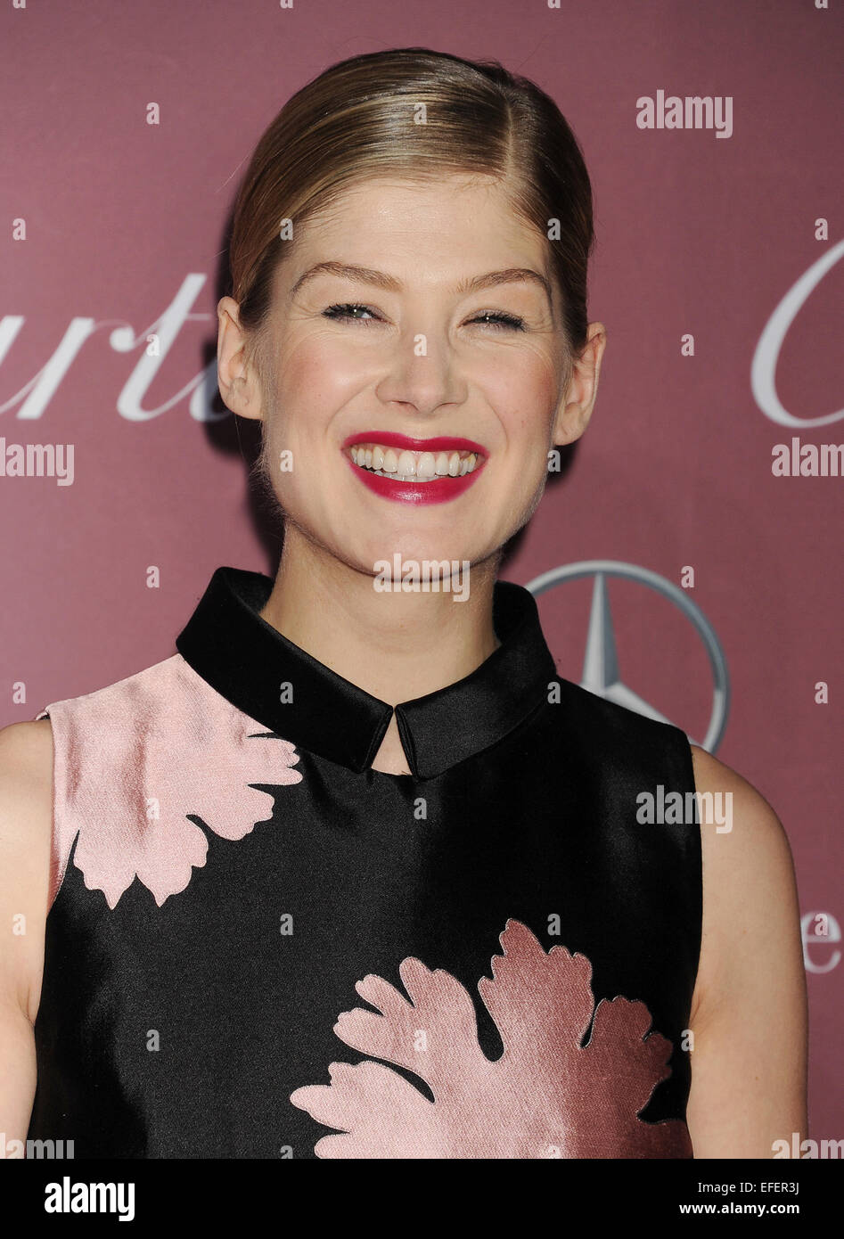 ROSAMUND PIKE  UK film actress in January 2015.Photo Jeffrey Mayer - Stock Image