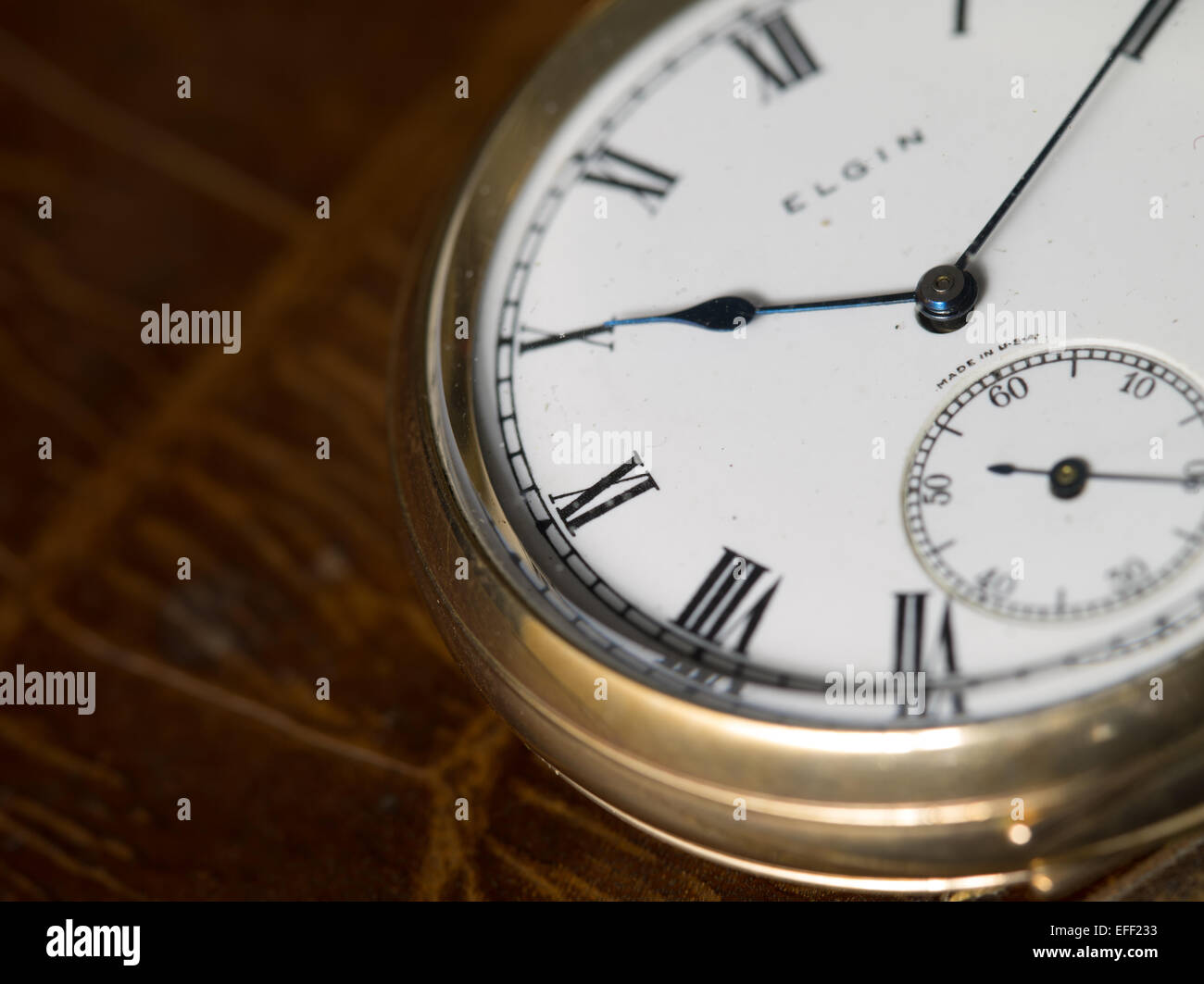 Elgin gold pocket watch - Stock Image