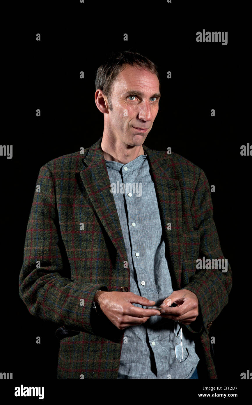 A portrait of Will Self at the Edinburgh International Book Festival 2012 in Charlotte Square Gardens  Pic by Pako - Stock Image