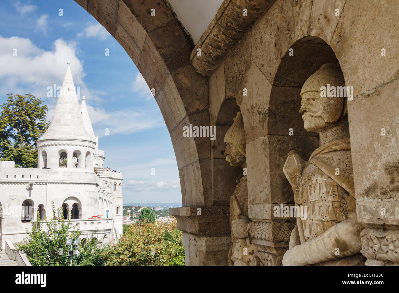 Fisherman's bastion, Budapest, Hungary - Stock Image