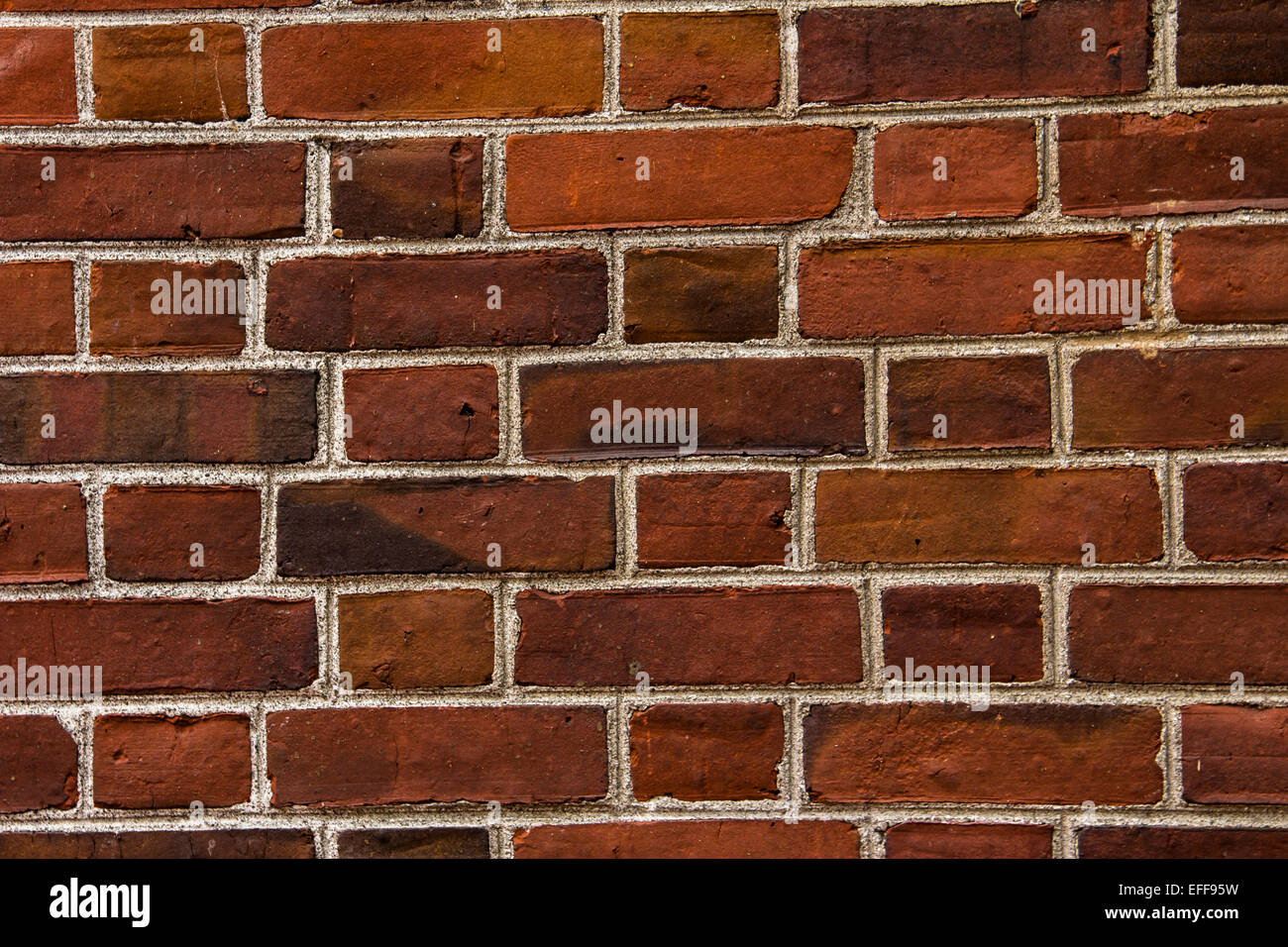 Red brick wall backgro und. - Stock Image