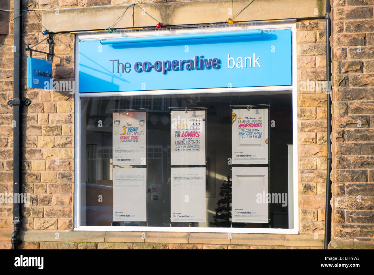 branch of the co-operative bank in Matlock,Derbyshire,England - Stock Image
