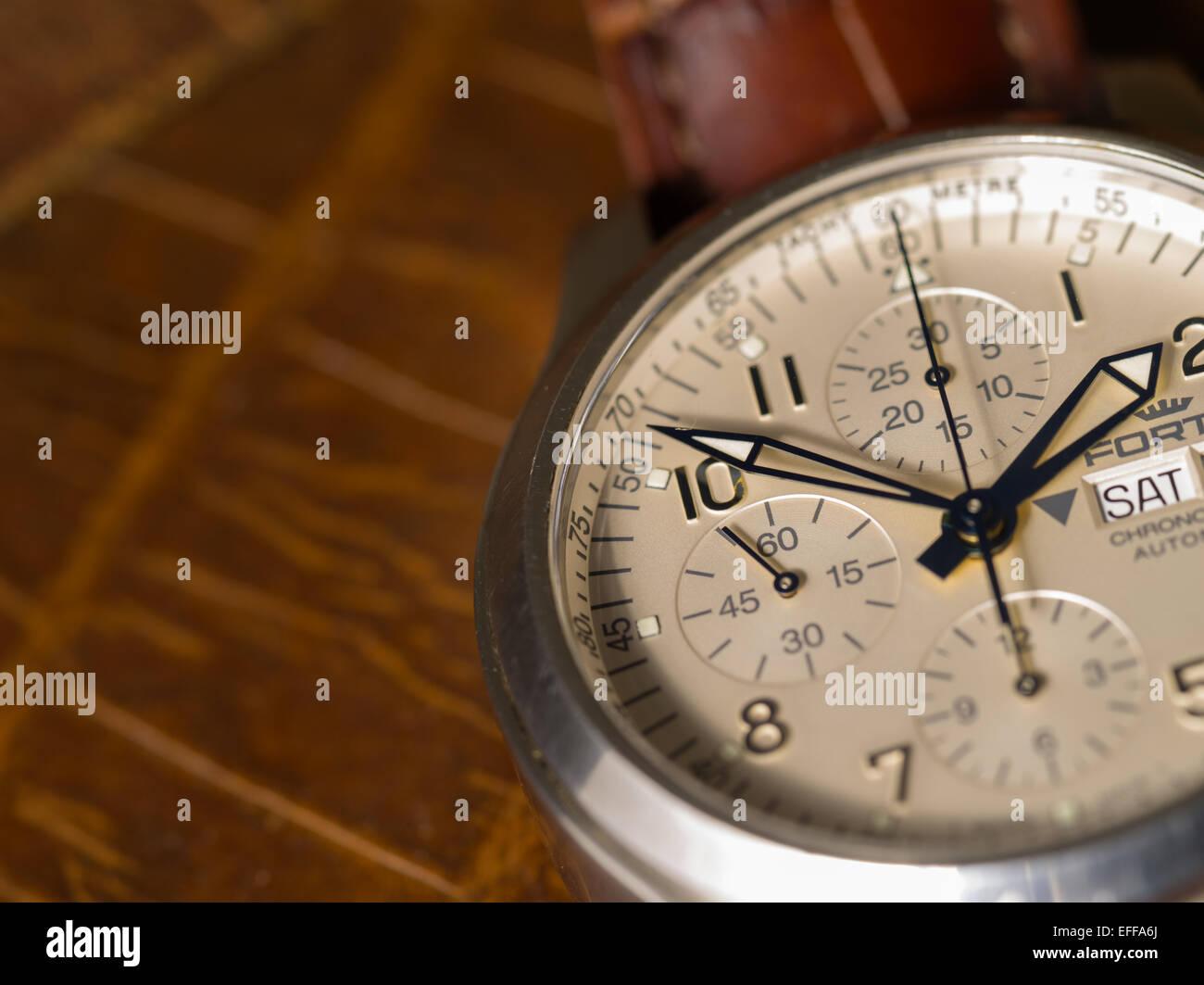 Chronograph watch - Stock Image