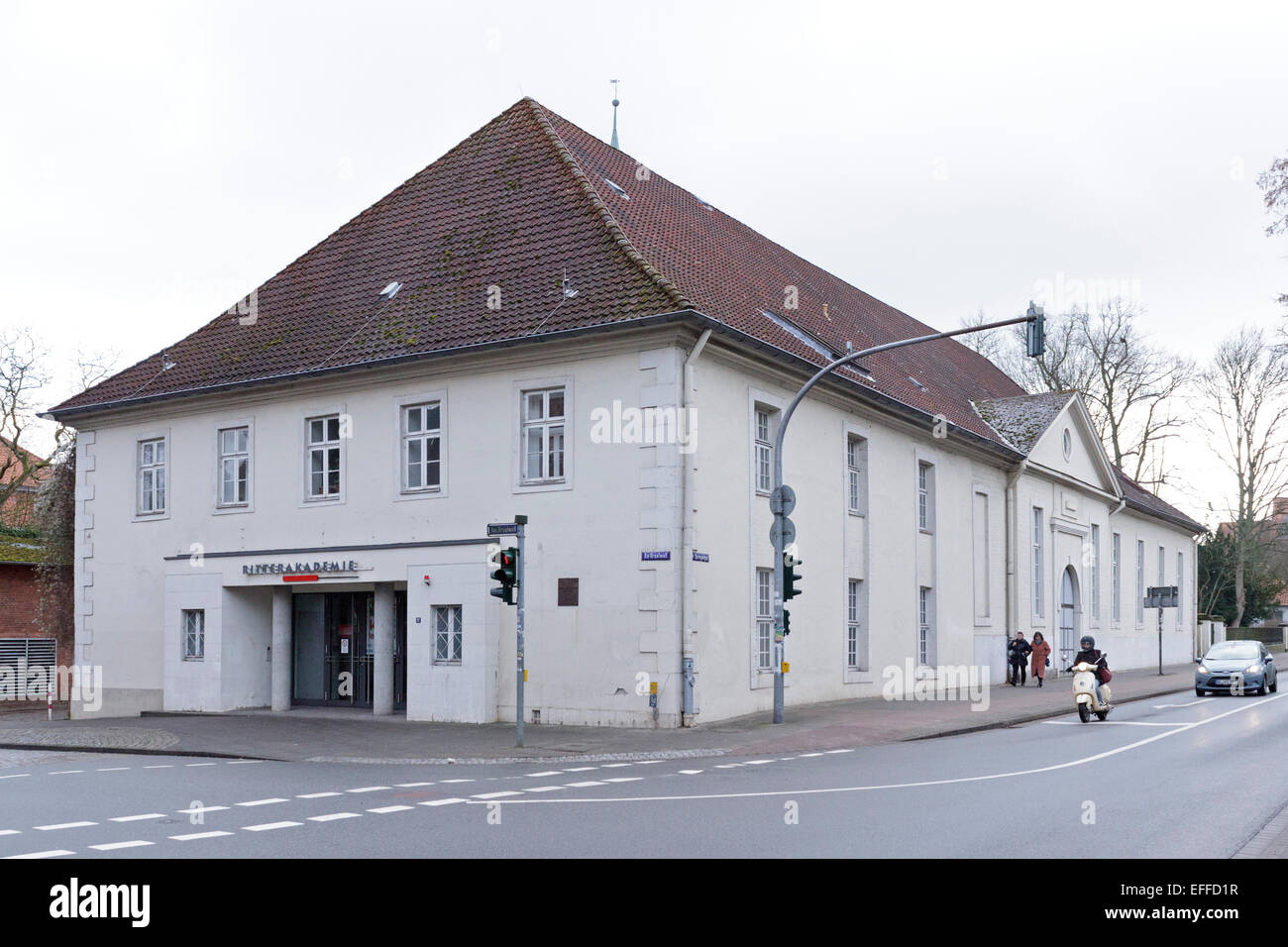 At the so called Ritterakademie in Lueneburg, Lower Saxony, Germany the trial against Oscar Groening will begin - Stock Image