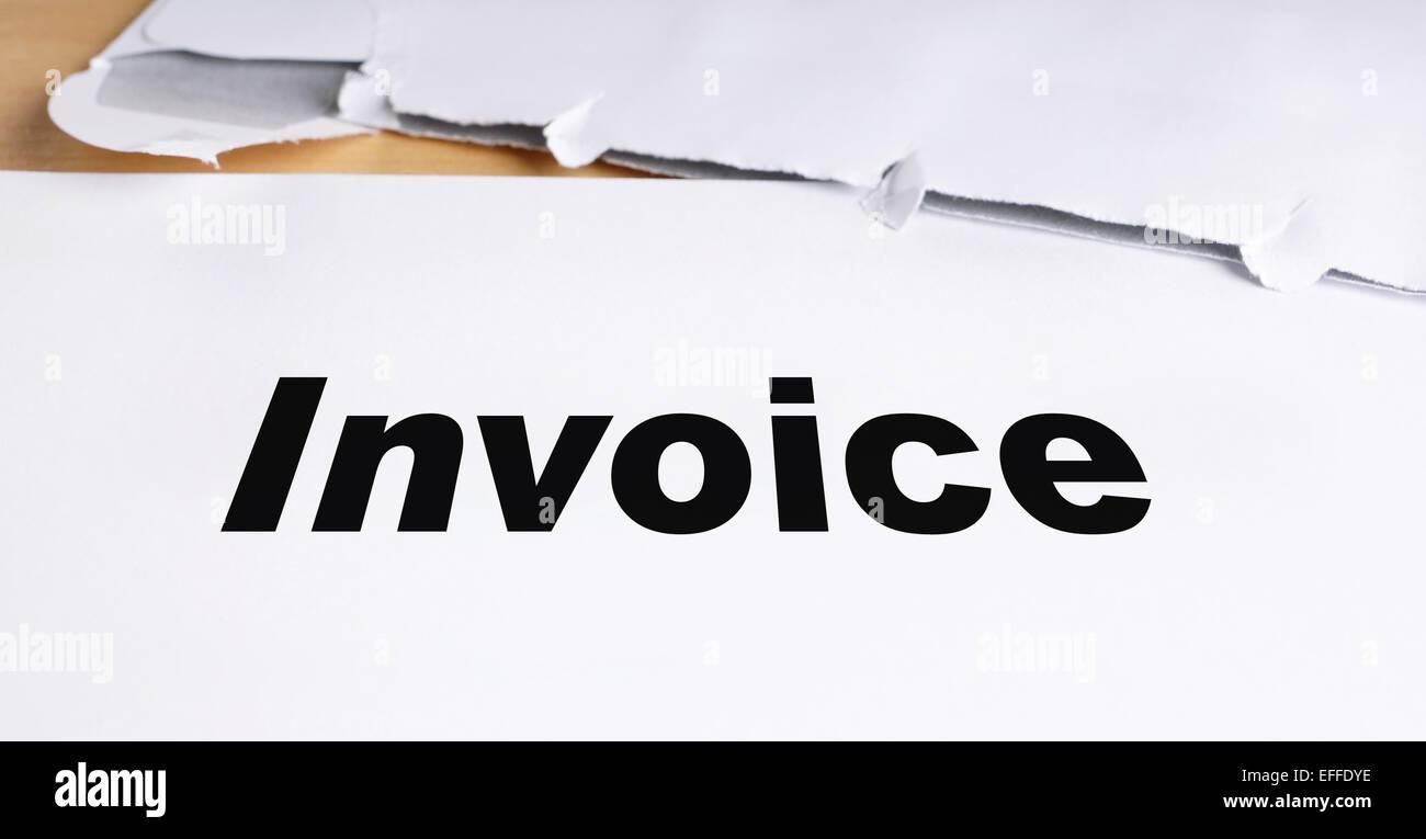 invoice - Stock Image