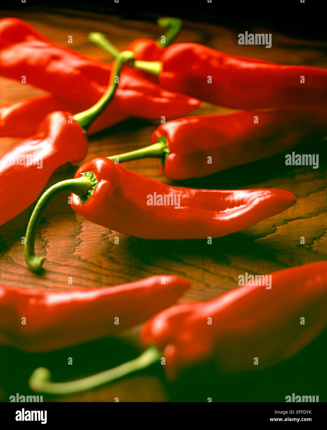 Ramiro peppers red - Stock Image