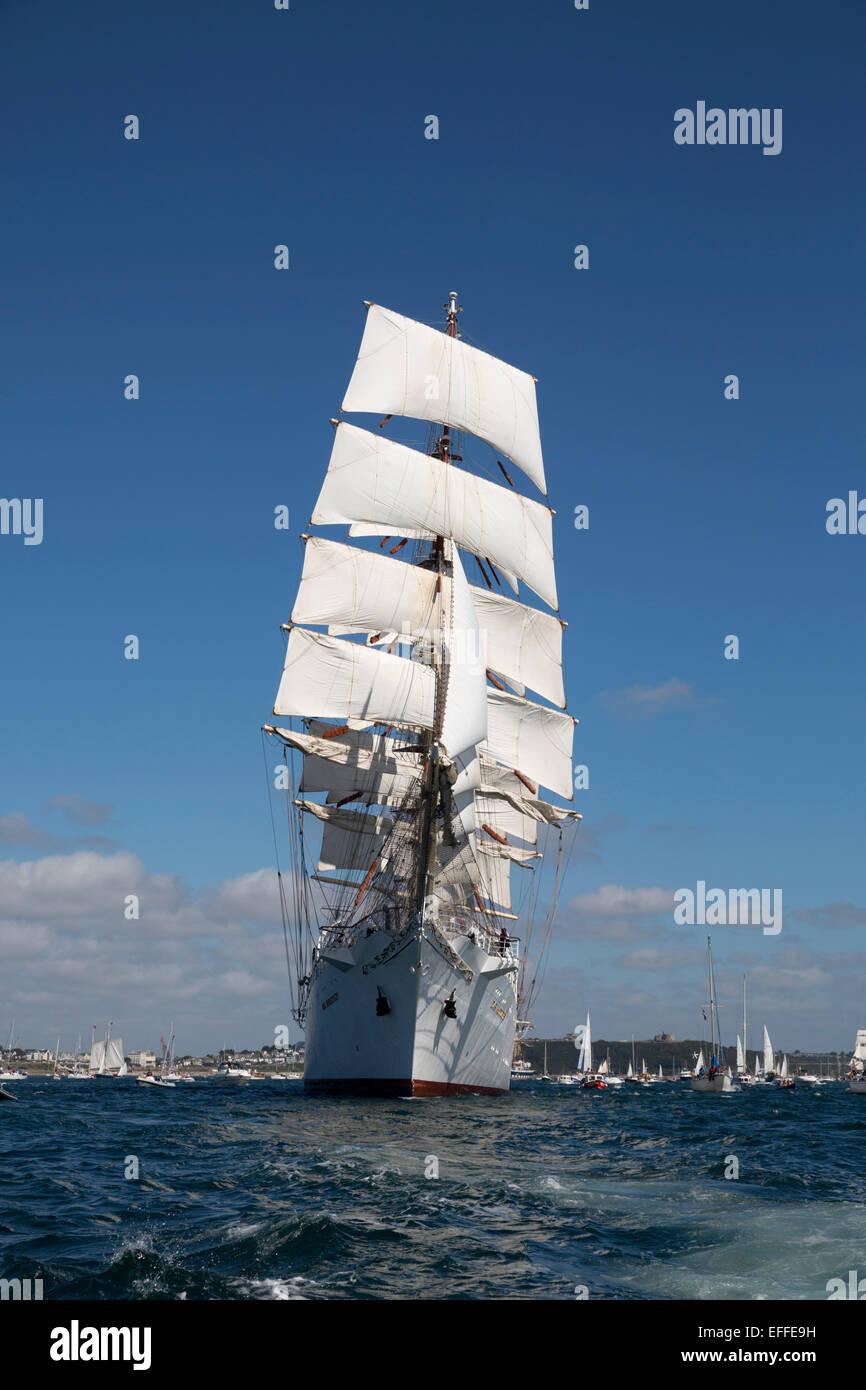 Tall Ships Regatta; Falmouth 2014 Cornwall; UK - Stock Image