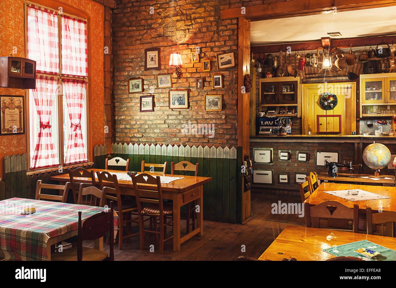 Cacak Serbia December 06 2014 Cafe And Restaurant Interior