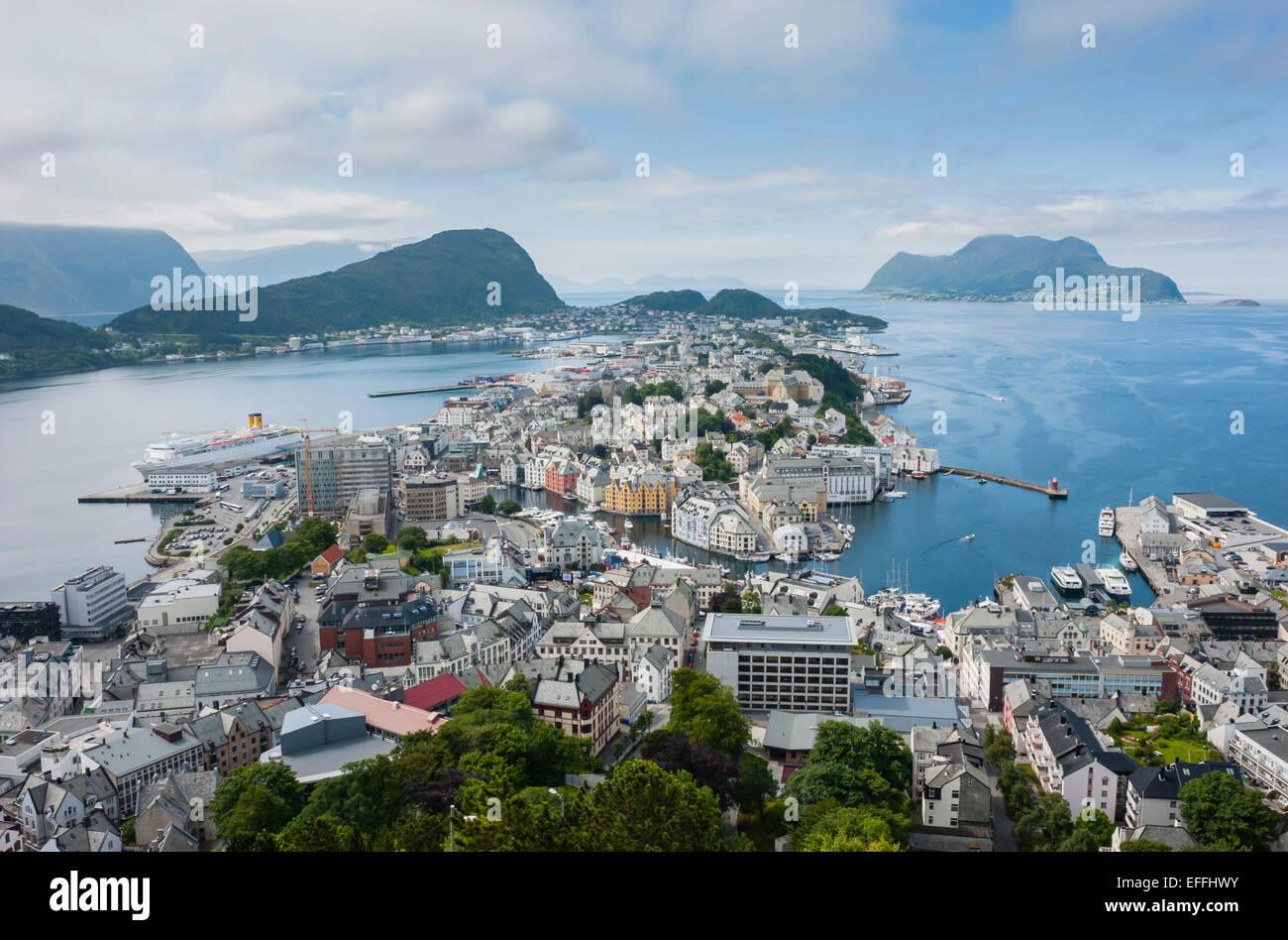 Norway, More og Romsdal, Alesund - Stock Image