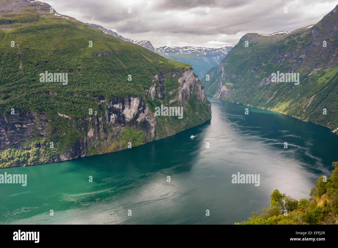 Norway, More og Romsdal, Sunmore, Geirangerfjord - Stock Image