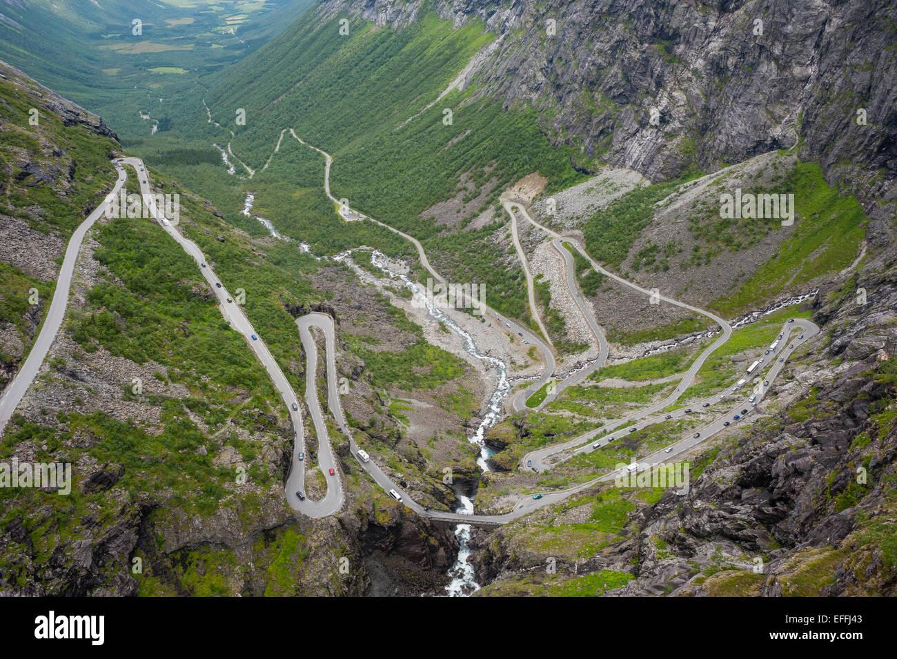Norway, More og Romsdal, Rauma, Trollstigen road - Stock Image