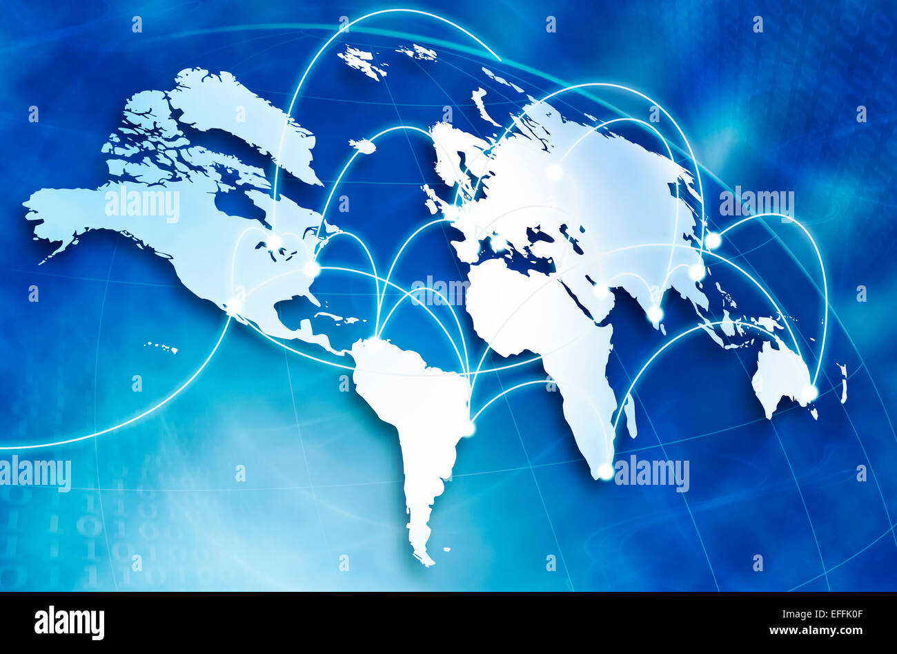 Global network concept - Stock Image