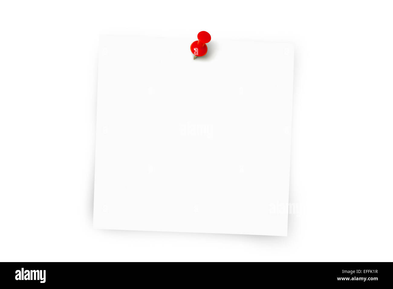 White note pad with copy space - Stock Image