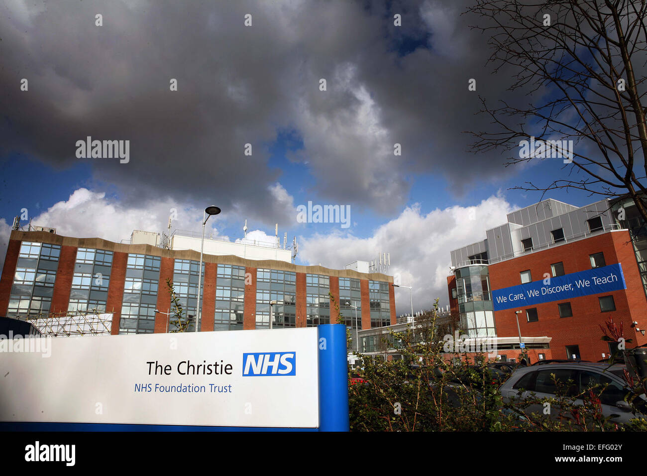 General view of The Christie Hospital, Withington, Manchester - Stock Image