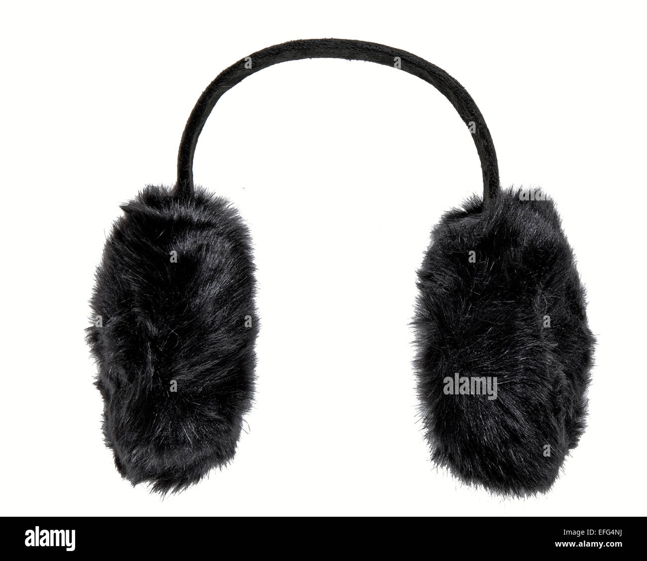 Black earmuffs Stock Photo