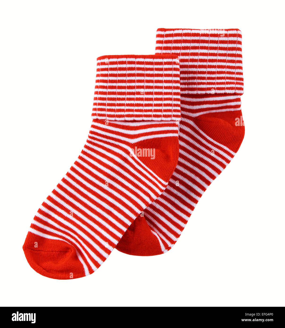 red and white ankle socks - Stock Image