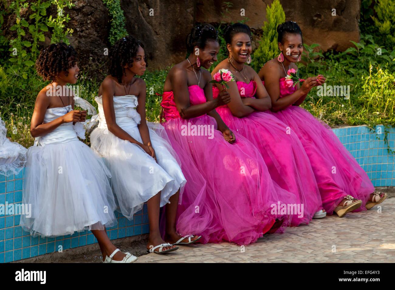 A Wedding Party In Arba Minch, Ethiopia Stock Photo