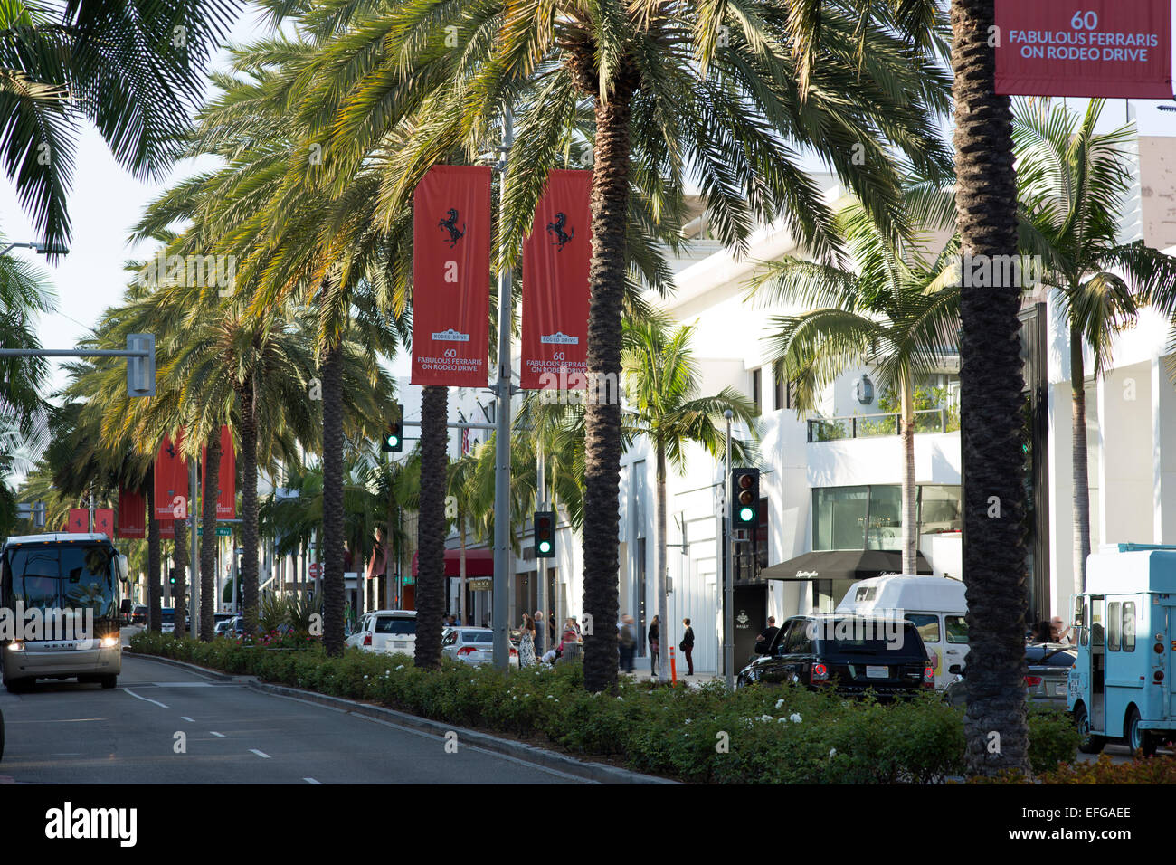 NORTH RODEO DRIVE BEVERLY HILLS LOS ANGELES CALIFORNIA USA Stock Photo
