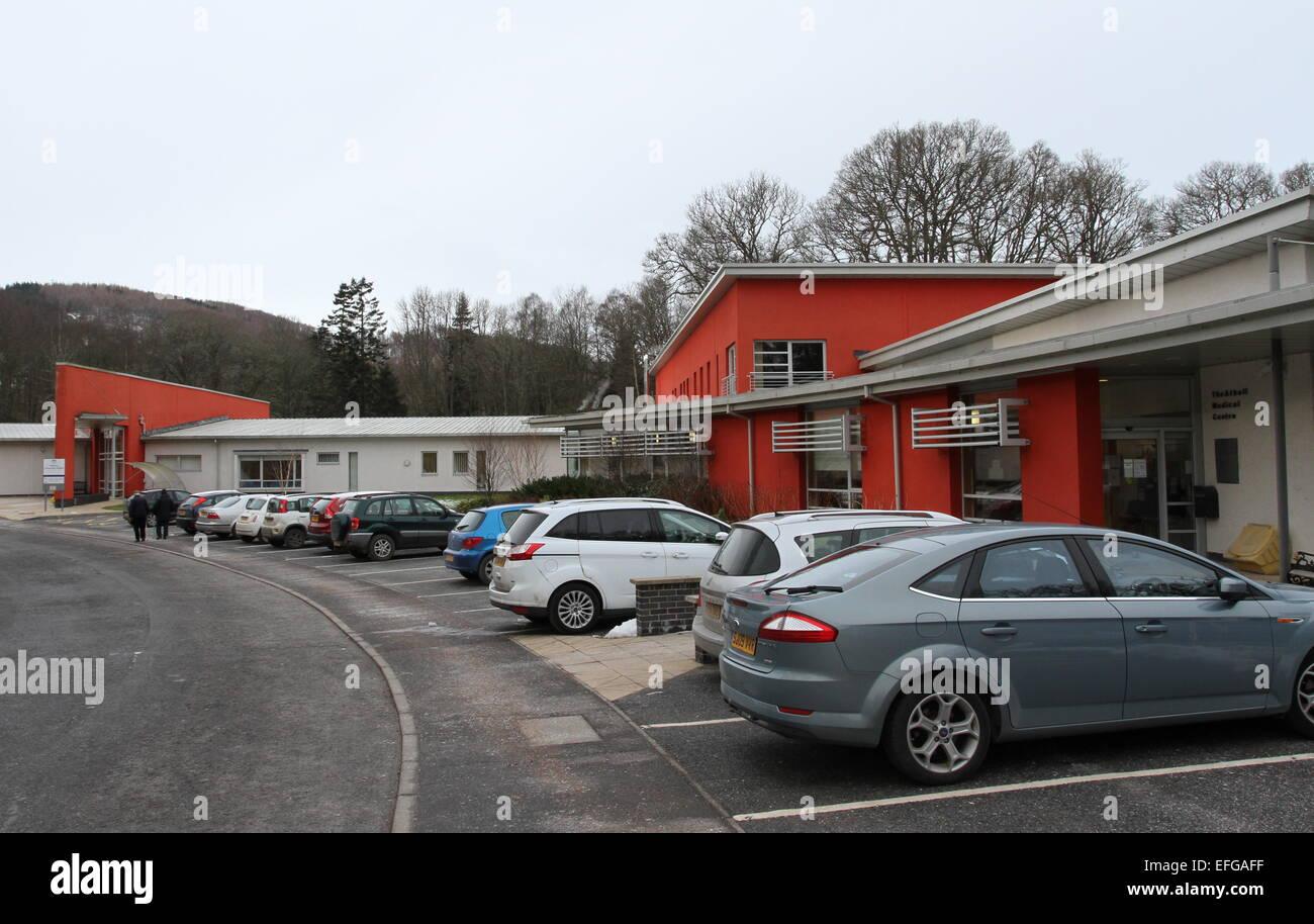 Pitlochry Community Hospital Scotland February 2015 - Stock Image