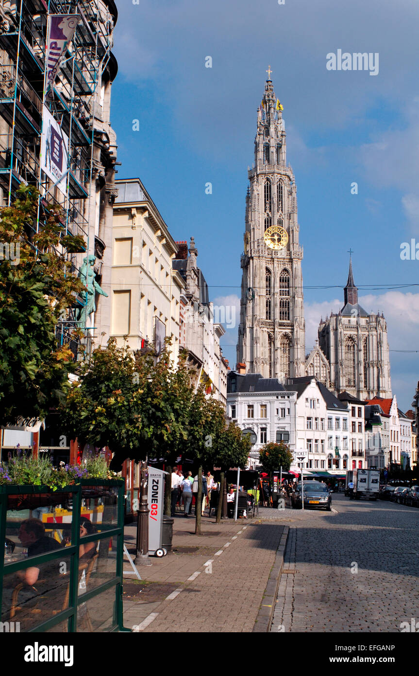 Belgium,  Flanders,  Antwerp, Cathedral of Our Lady, Onze-Lieve-Vrouwekathedraal - Stock Image