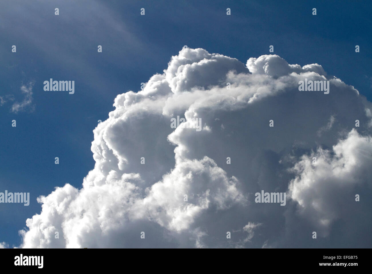 Cumulonimbus cloud. - Stock Image