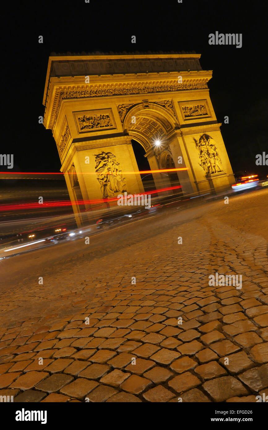 Arc de triumph-Paris France. - Stock Image