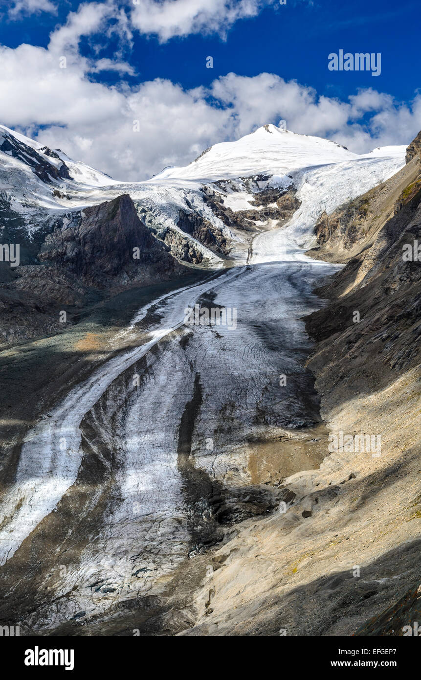 European Alps. Pasterze, Austria biggest glacier and Grossglockner mountain (3798 m) - Stock Image