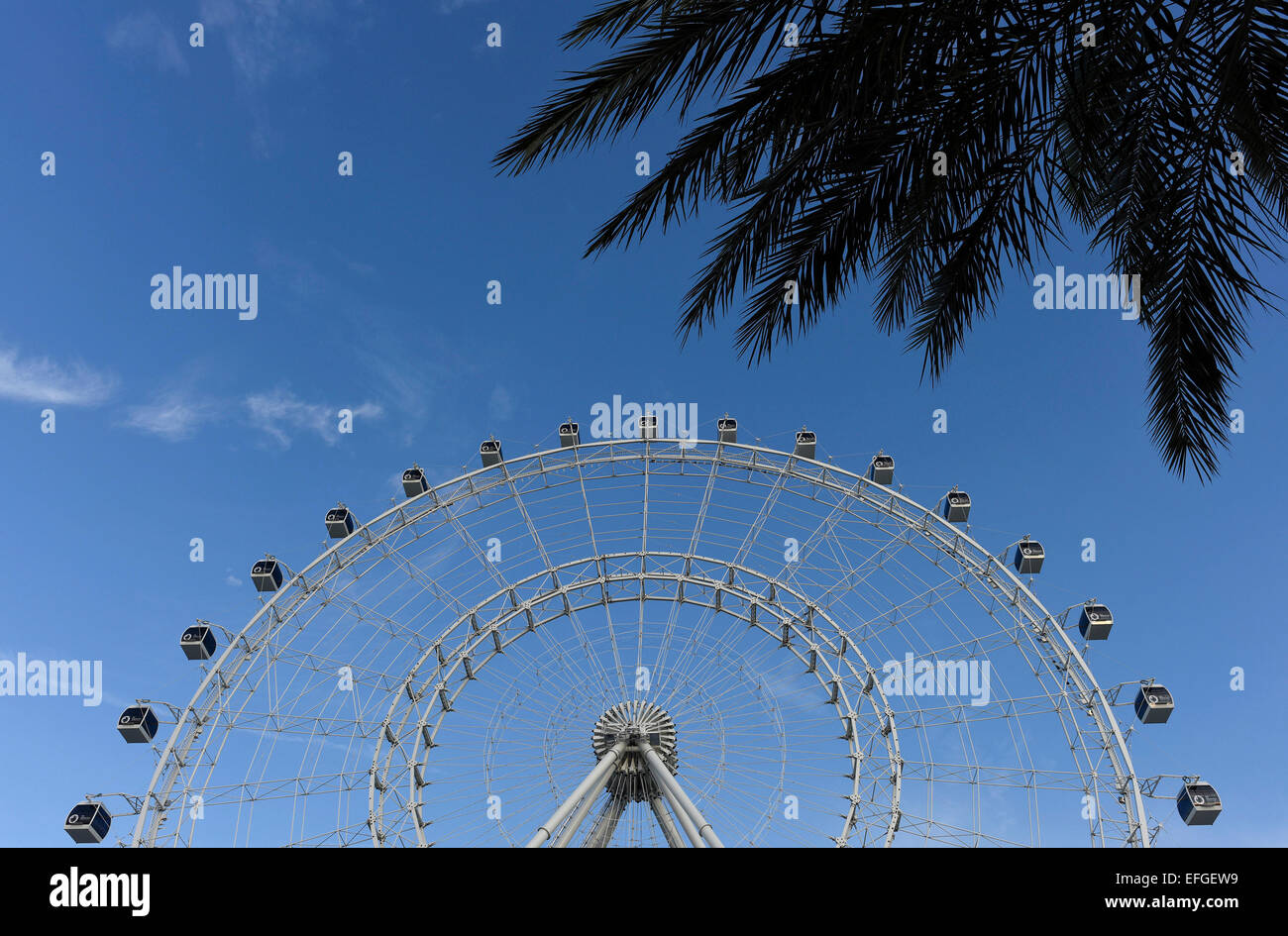 The Orlando Eye from Merlin Entertainments, in Orlando, Florida opening Spring 2015. - Stock Image